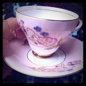 Vintage Taylor & Kent Bone China Cup and Saucer